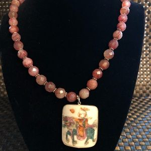 Jewelry - Vintage Child & Horse Handcrafted Necklace